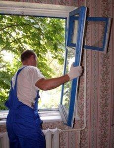 Замена старого деревянного окна на пластиковое окно из ПВХ - Подготовительные работы